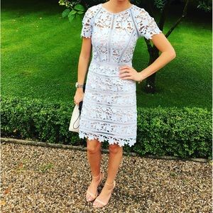 Reiss Orchid Lace Dress in Blue size 6